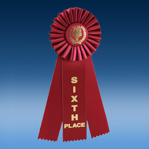 6th Place Triple Ribbon