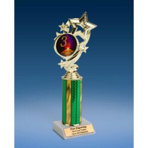 "3rd Place Star Ribbon Trophy 10"""