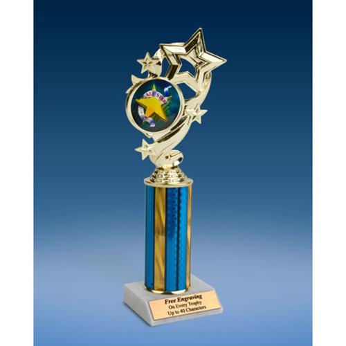 """All Star Star Ribbon Trophy 10"""""""
