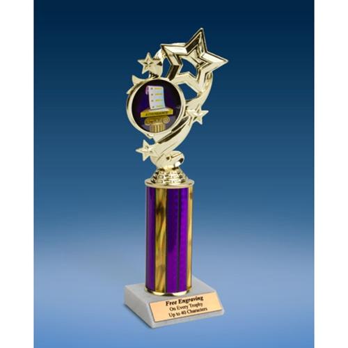"Attendance Star Ribbon Trophy 10"""
