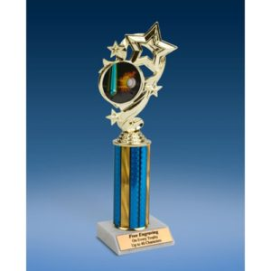 Baseball 1 Star Ribbon Trophy 10""