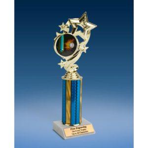 "Baseball 1 Star Ribbon Trophy 10"""