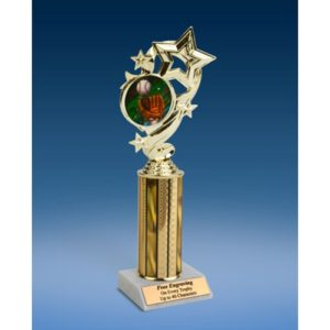 Baseball 2 Star Ribbon Trophy 10""