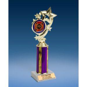 "Fire Department Star Ribbon Trophy 10"""