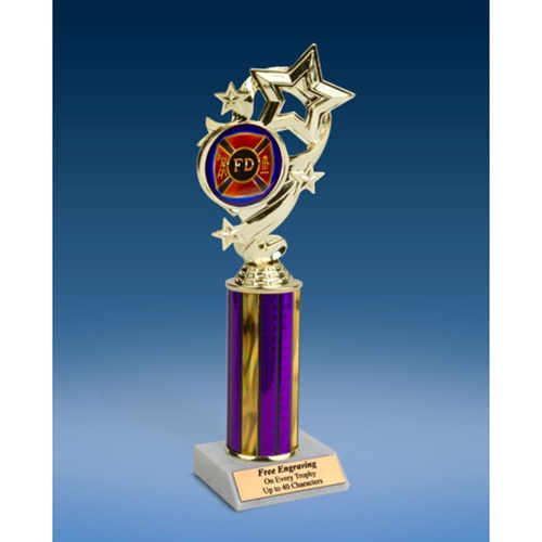 Fire Department Star Ribbon Trophy 10""