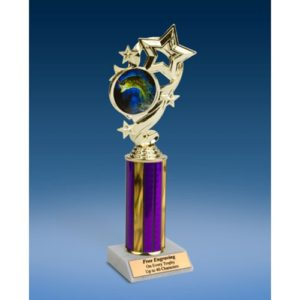 Fishing Star Ribbon Trophy 10""