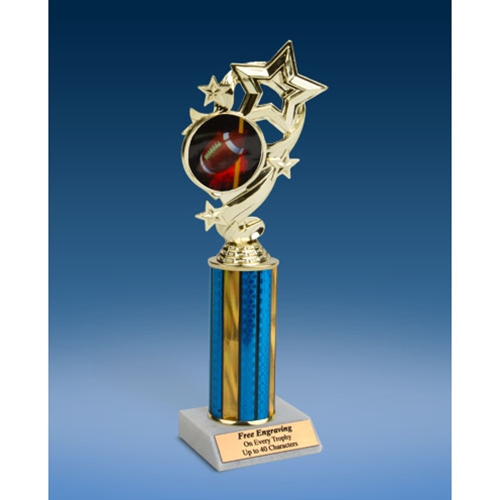 Football 1 Star Ribbon Trophy 10""