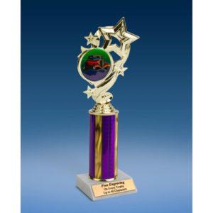 "Hot Rod Star Ribbon Trophy 10"""