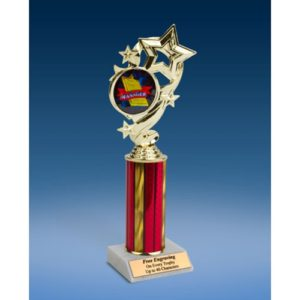 Manager Star Ribbon Trophy 10""