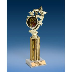 "Music 1 Star Ribbon Trophy 10"""