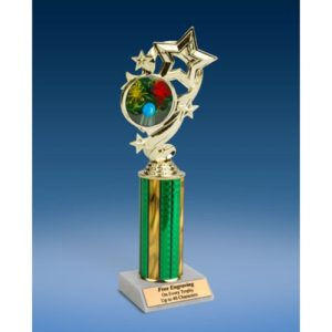"""Paintball Star Ribbon Trophy 10"""""""