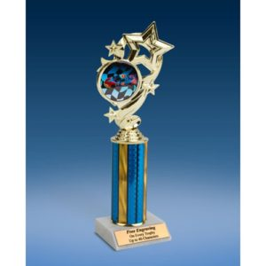 Racing Star Ribbon Trophy 10""