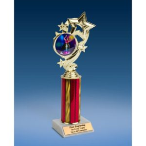 Rodeo Clown Star Ribbon Trophy 10""