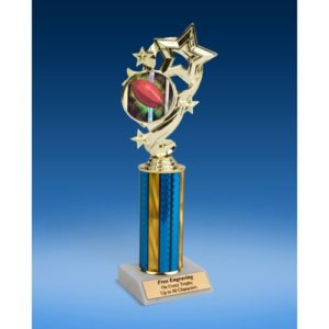Rugby 1 Star Ribbon Trophy 10""