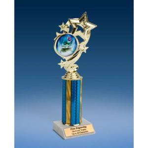 """Snowmobile Star Ribbon Trophy 10"""""""