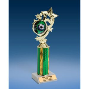 Soccer 1 Star Ribbon Trophy 10""