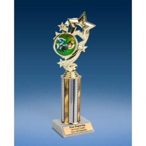 "Soccer 3 Star Ribbon Trophy 10"""