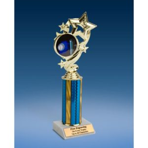 Softball Star Ribbon Trophy 10""