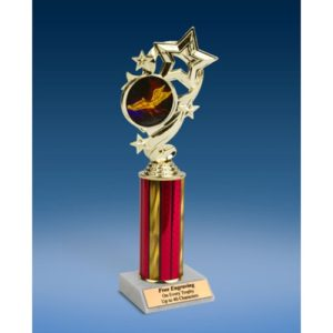Track Star Ribbon Trophy 10""