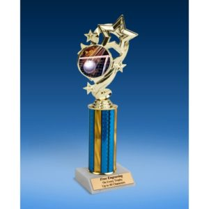 Volleyball Star Ribbon Trophy 10""