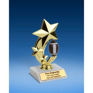 "Football 3-Star Sport Spinner Trophy 6"""