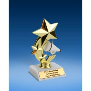 Cheerleading 3-Star Sport Spinner Trophy 6""