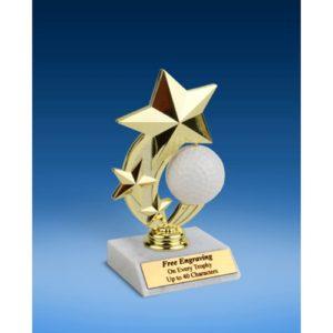 "Golf 3-Star Sport Spinner Trophy 6"""