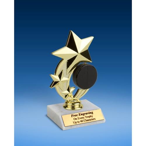 "Hockey 3-Star Sport Spinner Trophy 6"""
