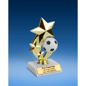 Soccer 3-Star Sport Spinner Trophy 6""