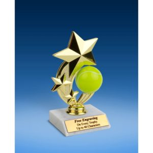 Tennis 3-Star Sport Spinner Trophy 6""