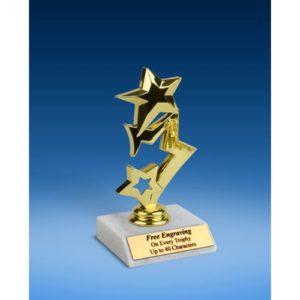 """3-Star Sport Figure Trophy 6"""""""