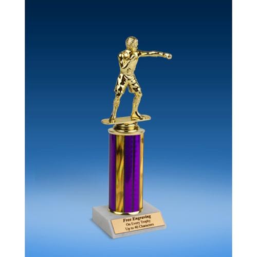 "Boxing Sport Figure Trophy 10"""