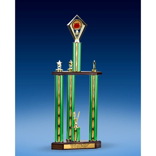 Chili Diamond Three-Tier Trophy 25""