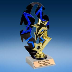 3-Star Sport Figure Backdrop Trophy-0