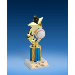 Baseball 3-Star Sport Spinner Trophy 8""