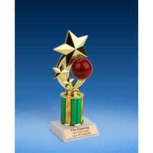 """Basketball 3-Star Sport Spinner Trophy 8"""""""