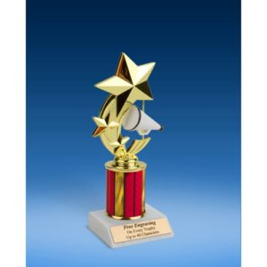 Cheerleading 3-Star Sport Spinner Trophy 8""