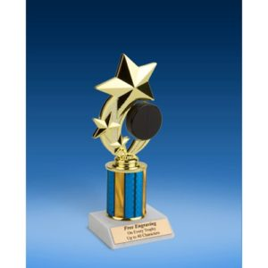 Hockey 3-Star Sport Spinner Trophy 8""
