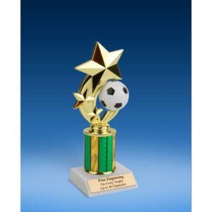 """Soccer 3-Star Sport Spinner Trophy 8"""""""