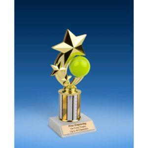 "Tennis 3-Star Sport Spinner Trophy 8"""