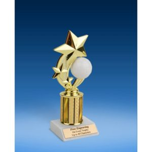 Volleyball 3-Star Sport Spinner Trophy 8""