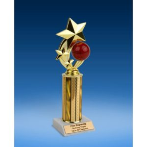"""Basketball 3-Star Sport Spinner Trophy 10"""""""