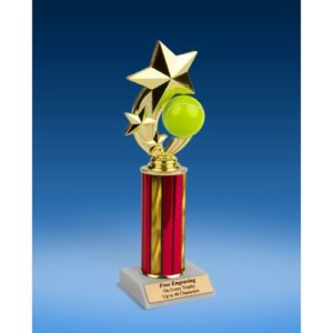 Tennis 3-Star Sport Spinner Trophy 10""