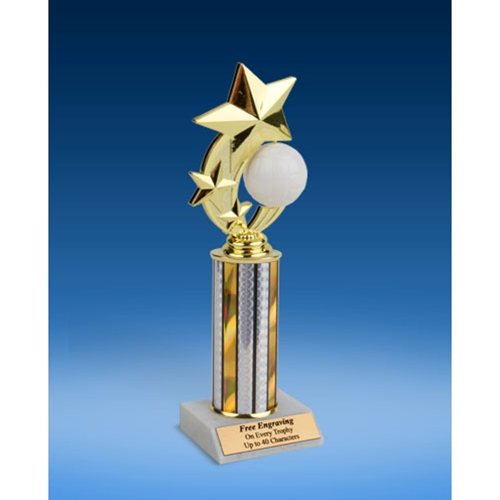 Volleyball 3-Star Sport Spinner Trophy 10""