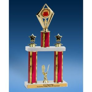 Chili Diamond 2 Tier Trophy 16""