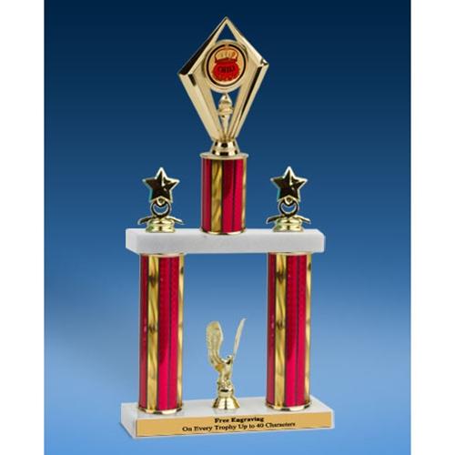"Chili Diamond 2 Tier Trophy 16"""