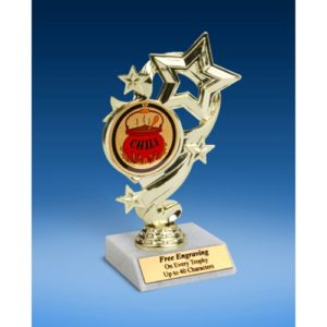 Chili Star Ribbon Trophy 6""