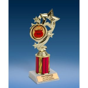 Chili Star Ribbon Trophy 8""