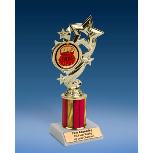 "Chili Star Ribbon Trophy 8"""