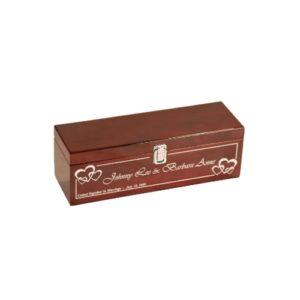Rosewood Piano Finish Single Wine Presentation Box